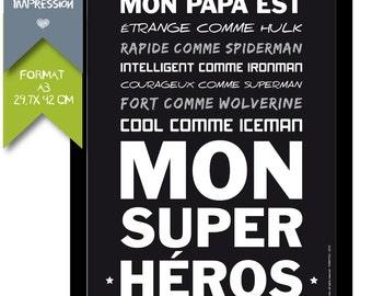 Printed displays - Super Hero Dad - A3 Format