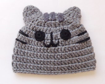 Black Friday SALE 20% Pusheen Cat Hat / Beanie - Premie, Newborn, Child, Teen, Adult - Halloween / Cosplay Wig/ Baby Shower Giftn Christmas