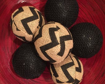 COUNTRY CHIC Burlap Decorative Balls - Multiple Colors