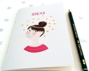 Stars & Ideas A6 Notebook (Plain) - Perfect size for your handbag!