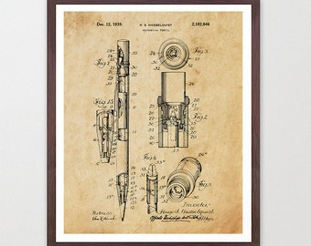 Architect Art - Architect Patent - Architect Poster - Architecture - Pencil - Pencil Patent - Pencil Poster - Writing - Writer - Literature