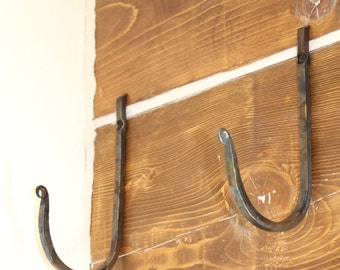 Hand Forged Metal Hooks - Large