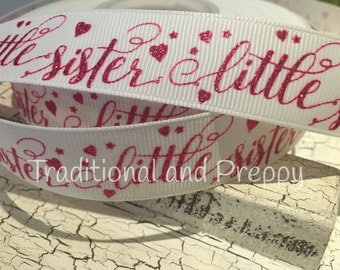 "7/8"" Little Sister grosgrain ribbon sold by the yard"