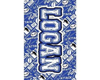 Boys Lacrosse Personalized Beach Towel - Lacrosse- Beach Towel - Boys Lacrosse - Pool Party - Lacrosse Boy