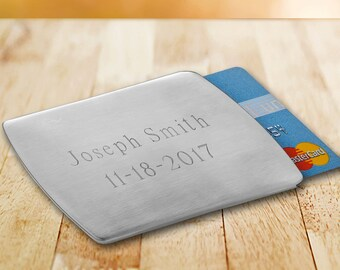 Personalized Stainless Steel Card Holder - Personalized Card Holder - Husband Gifts - Gifts for Boyfriends - Gifts for Him - GC1410