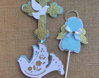 Baptism Decoration/ Christening/ Baptism centerpieces stick/ Baptism/ Angel