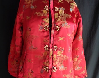 Vintage Chinese jacket red padded
