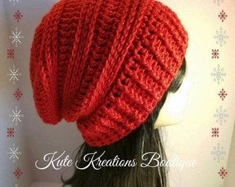 Crochet Slouchy Hat/Stylish Slouchy Hat/Slouchy Beanie.