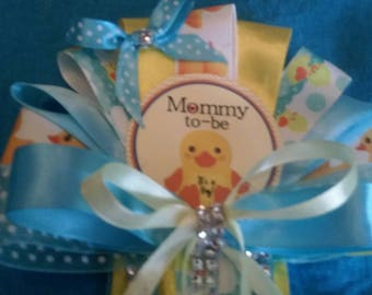 Baby shower duck baby shower corsage set mommy corsage daddy tie and 2 grandma corsages