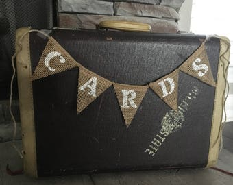 Cards Banner, Cards Burlap Banner, Cards Sign, Wedding Banner, Party Banner