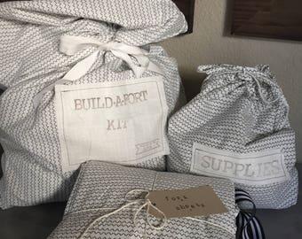 Black & White Patterned Build-A-Fort Kit