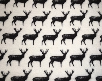 Deer Flannel Crib Sheet