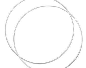 Hoop Silver earrings 925 Sterling Silver earrings women's jewelry thin (No. OS-311)