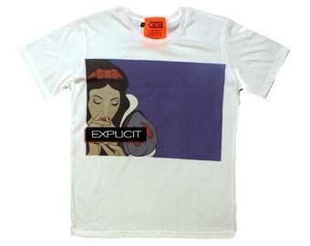 Clear snow white t-shirt!