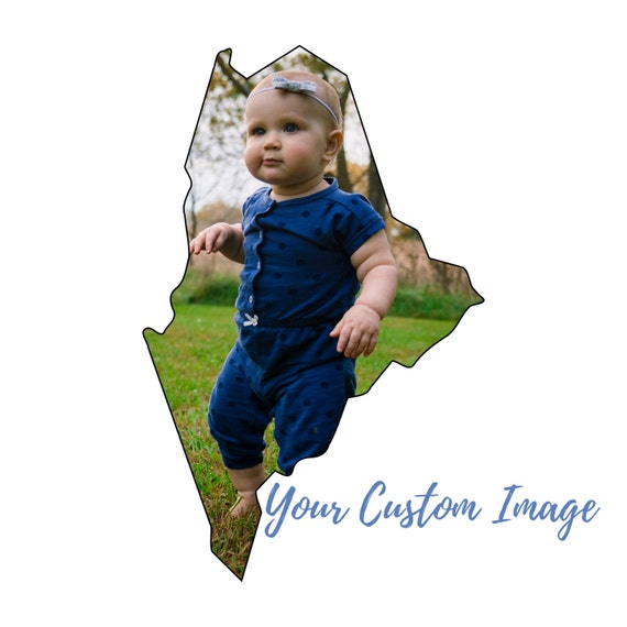 Maine Wall Decor, Acrylic Mounted, Maine State Shape, Personalized Art, Use Your Image, Maine Outline, Northwoods Decor, North East Wall Art