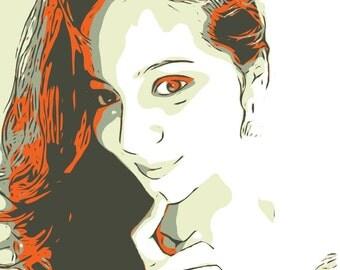 Custom Cartoon Portrait from your Photo.Digital Cartoon Portrait Drawing & Illustration.