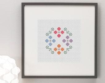 Flower Bouquet Cross Stitch Pattern