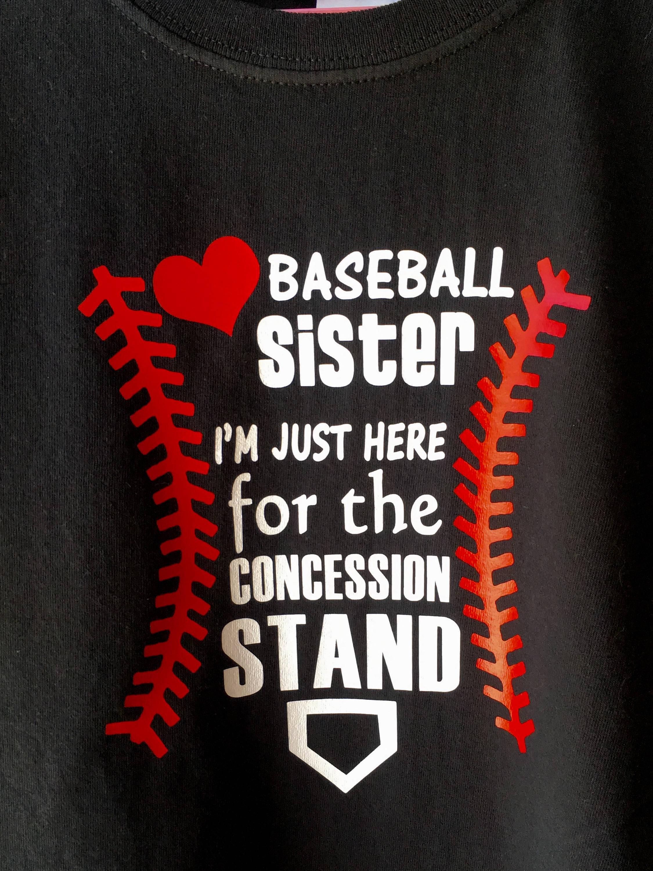baseball sister svg file  baseball svg for t shirts  hats  bags  baseball sister shirt  just
