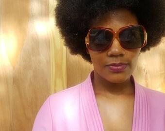Vtg 1970s Oversized Sunglasses