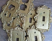 Brass Light SwitchPlate Cover, Outlet Plate Cover, Ornate Wall Plate Covers, Gold Switch Plate Cover