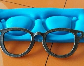 Glasses  -  sculpy fimo silicone mould mold - cake decorating