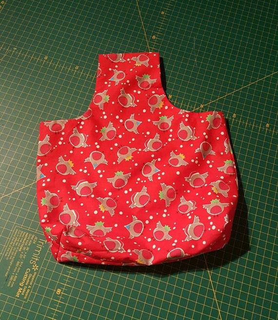 Christmas robins arm yarn bag