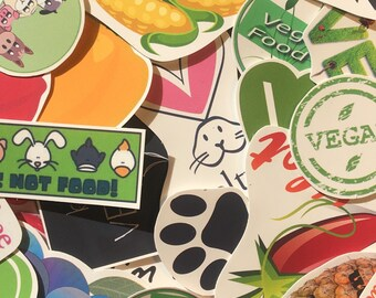 Waterproof Vegan Sticker (Pack of 7)
