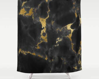 Marble Shower Curtain, Gold Shower Curtain, Girls Bathroom Decor, Teen Room Decor, Girls Shower Curtain, Housewarming Gift, Gift for Her