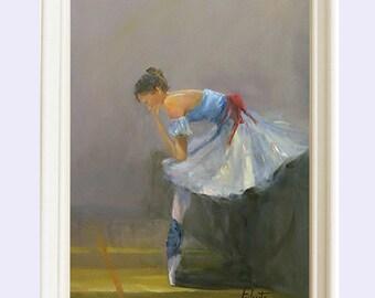 Ballerina painting, Oil Painting, Art print, Wall decor, Nursery decor ballerina, Ballerina print, Ballerina wall art , Ballerina, Giclee
