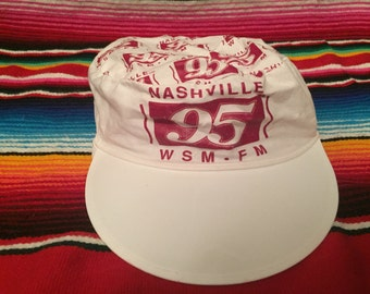 VTG 80s Nashville WSM Grand Ole Opry White Painter's Hat