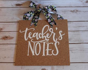 Teacher's Notes Classroom Corkboard