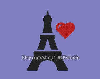 Paris Eiffel Tower Embroidery Design - 5 Sizes - INSTANT DOWNLOAD