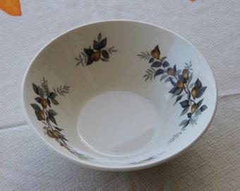 "Vintage 1957  Ridgeway ""Conference "" Bowl Staffordshire Pottery (set of 5)"