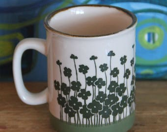 Ceramic Coffee Mug , Vintage, 1970s Retro