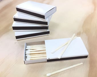 50 Blank White Wooden Matchboxes, Wedding Favor Matchboxes, Blank Wooden Matchboxes, Matchbox Party Favors, Match Boxes, Blank Matchboxes