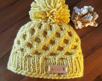 Honeycomb Hat Baby 3-6 months