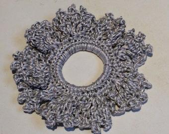 Crochet hair scrunchie. Ponytail band. Crochet hair band