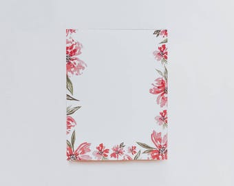 FLORAL NOTEPAD | Scratch Pad | To Do List | Desk Pad