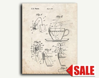Patent Art - Tea Bag Patent Wall Art Print
