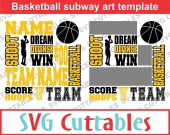 Basketball svg, Basketball Subway Art SVG, Basketball dxf, eps, Basketball template, Silhouette file, Cricut file, Digital Cut File