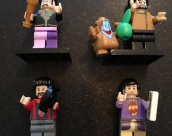 THE BEATLES - *Back in Stock* Lego Compatible Set / Custom Minifigure / John Lennon, Paul McCartney, Ringo Starr, George Harrison / Music Ca