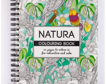 Therapeutic colouring book of Nature - natural landscape and wildlife adult colouring book