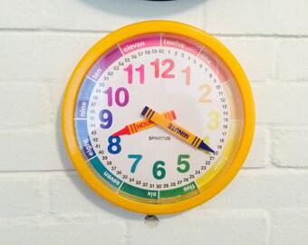 Vintage Crayon Clock