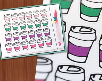 Coffee Stickers - Planner stickers for Happy Planner, Erin Condren, Filofax, personal planners and more!