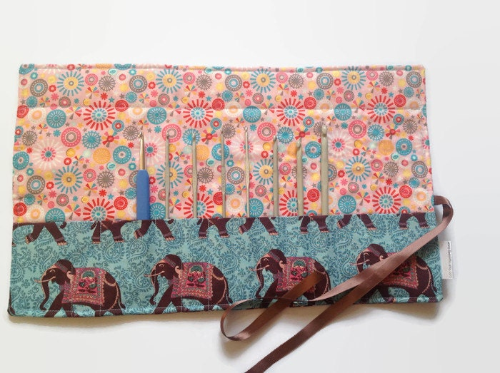 crochet hook roll up case The crochet hook case from della q in elegant silk and exquisite craftsmanship from the far east.