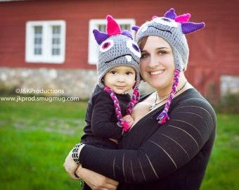 Crochet Monster Hat - Customizable Colors!