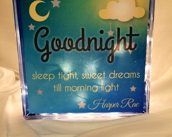 Personalized Childrens Night Light