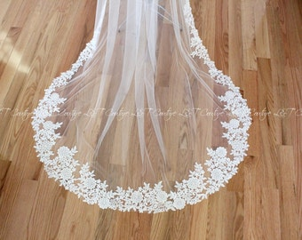 Venice Lace Veil, One Tier Veil, Weddings Accessories, Cathedral Wedding Veil, Lace Cathedral Veils, Wedding Veil, Wedding Custom Made Veil