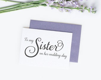 To my sister on her wedding day card - Wedding card - Wedding day cards - To my sister card - C001-15