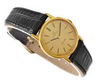Vintage Omega De Ville Cal.625 Hand Wind Gold Plated Ladies Petite Watch 1326 - Make Me An Offer!